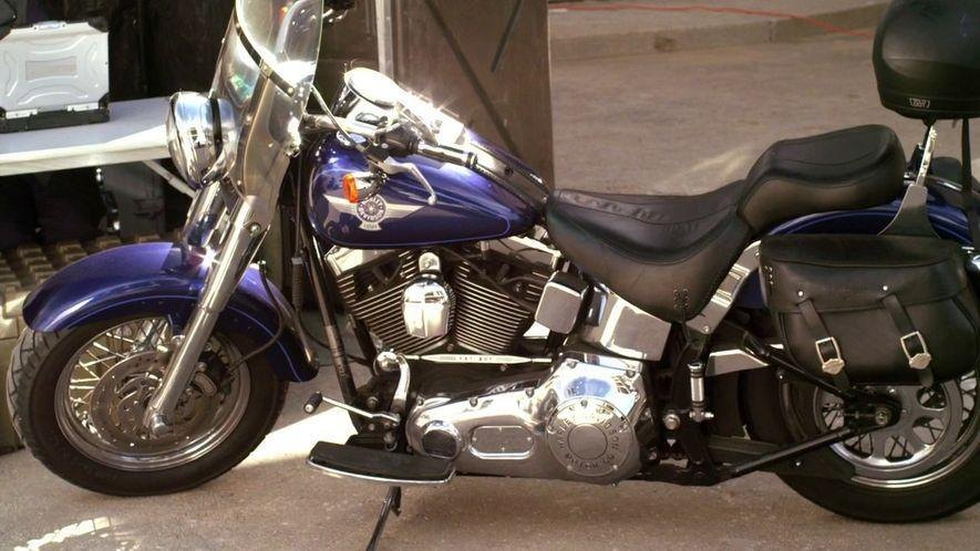 Softail Fat Boy in Brake