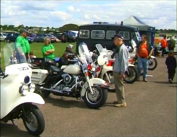 Electra Glide in Classic Police Vehicles on Show