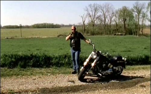Softail Fat Boy in Searching for the Wrong-Eyed Jesus