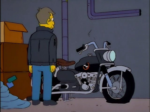 Softail Fat Boy in The Simpsons