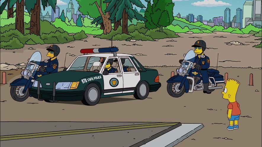 FLHP Road King in The Simpsons