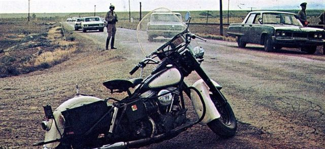 Electra Glide in Vanishing Point